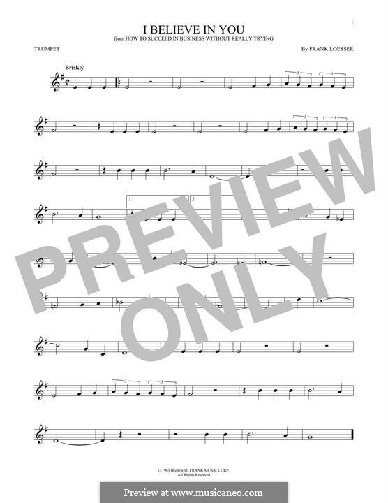 I Believe in You: Für Trompete by Frank Loesser