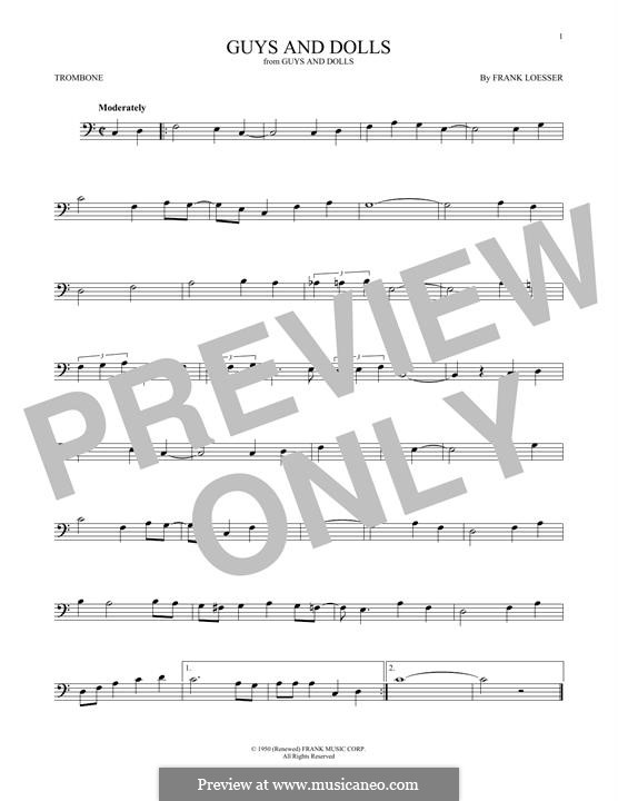 Guys and Dolls: For trombone by Frank Loesser