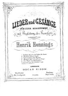 Weil auf mir Du dunkles Auge: Weil auf mir Du dunkles Auge by Henrik Hennings
