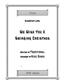 We Wish You a Merry Christmas, for Piano: For elementary version by folklore