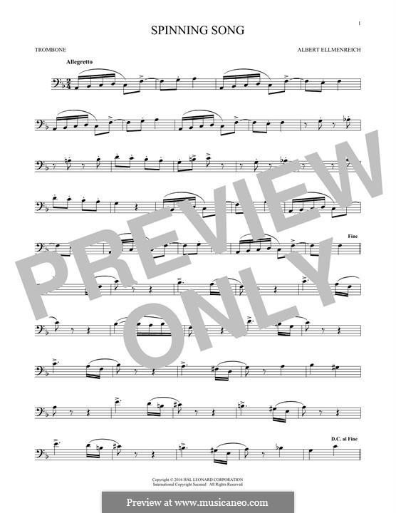 Spinnerlied: For trombone by Albert Ellmenreich