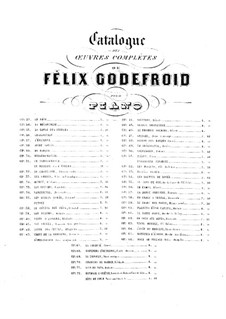 Plaintes d'une captive, Op.60: Plaintes d'une captive by Felix Godefroid