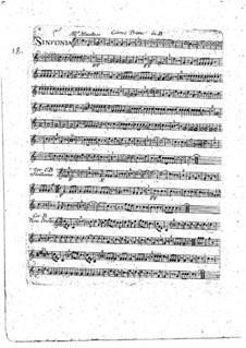 Sinfonie Nr.1 in B-Dur: Hornstimme I by François Joseph Gossec