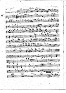 Sinfonie Nr.1 in B-Dur: Violinstimme I by François Joseph Gossec