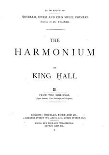 Das Harmonium: Das Harmonium by King Hall