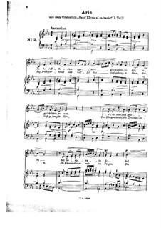 Sant' Elena al calvario: In te s'affida e spera. Arrangement for voice and piano by Johann Adolph Hasse