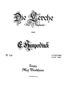 Die Lerche, EHVW 127: Die Lerche by Engelbert Humperdinck