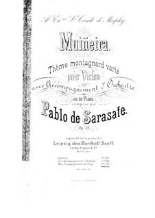 Muiñeira, Op.32: Vollpartitur by Pablo de Sarasate