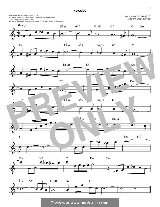 Nuages: Melodische Linie by Jacques Larue