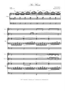 Ave Maria, D.839 Op.52 No.6: Violin duet - organ accompaniment by Franz Schubert