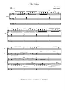 Ave Maria, D.839 Op.52 No.6: Trombone duet - organ accompaniment by Franz Schubert