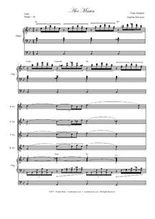 Ave Maria, D.839 Op.52 No.6: For saxophone quartet - organ accompaniment by Franz Schubert