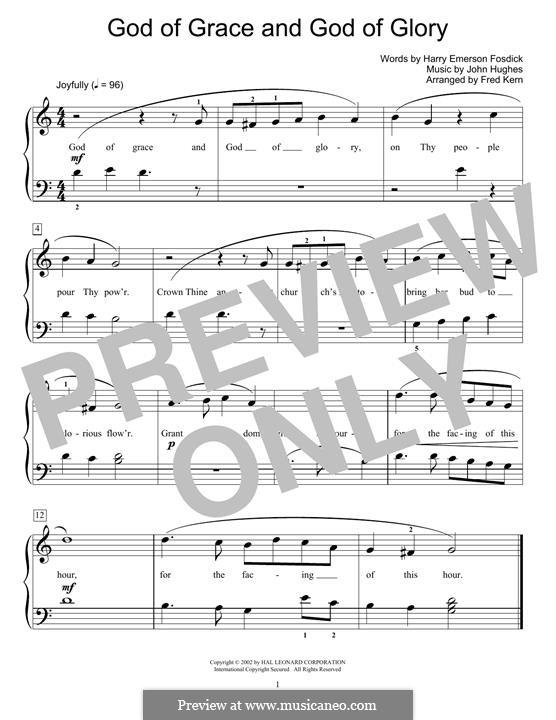 God of Grace and God of Glory: Für Klavier by John Hughes