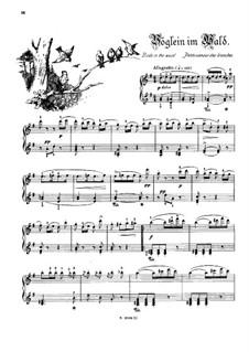 Musikalisches Bilderbuch, Op.41: Vöglein im Wald by Alexis Holländer