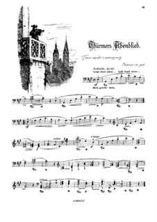 Musikalisches Bilderbuch, Op.41: Thürmers Abendlied by Alexis Holländer