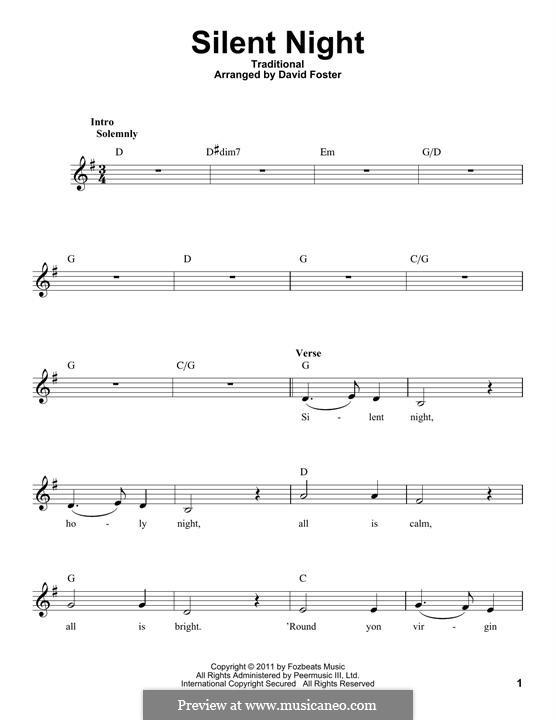 Stille Nacht: Melodische Linie by folklore