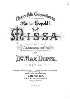 Missa Angeli Custodis, WV 10: Missa Angeli Custodis by Leopold I Habsburg
