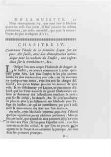 Méthode pour la Musette, Op.10: Kapitel IV-VII by Jaques Hotteterre