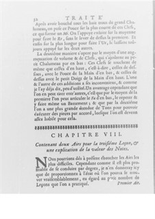 Méthode pour la Musette, Op.10: Kapitel VIII-XIII by Jaques Hotteterre