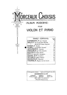 Zehn Stücke für Violine und Klavier, Op.49: Nr.1 Erinnerung by Jenö Hubay