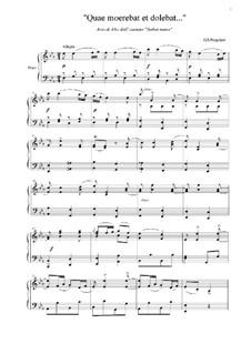 Stabat Mater: No.4 Quae moerebat et dolebat... by Giovanni Battista Pergolesi