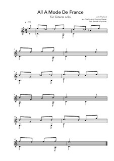All A Mode De France: C Major by John Playford
