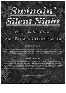 Stille Nacht (Noten zum Download): For clarinet choir by Franz Xaver Gruber