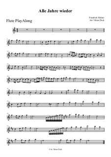 Alle Jahre wieder: For flute by Friedrich Silcher