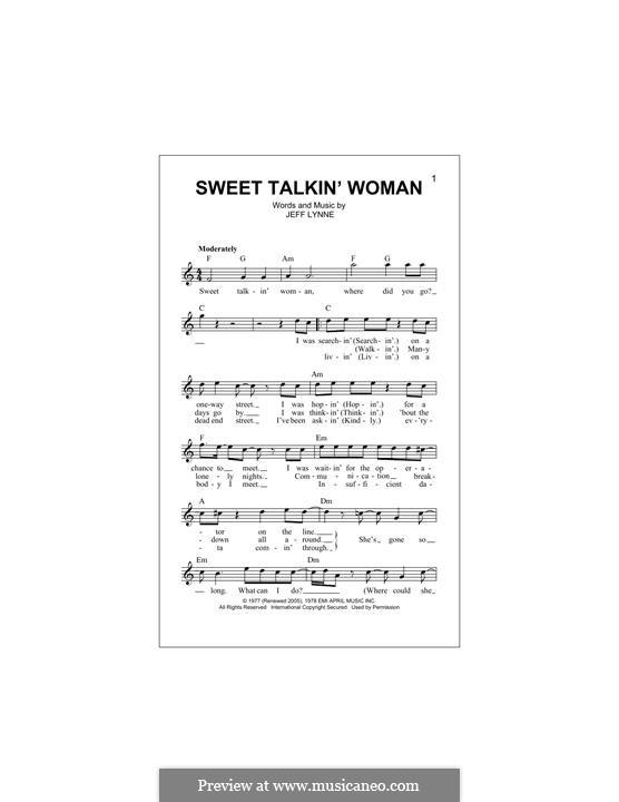 Sweet Talkin' Woman (Electric Light Orchestra): Melodische Linie by Jeff Lynne