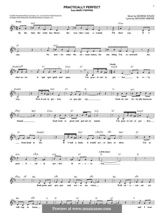 Practically Perfect: Melodische Linie by George Stiles
