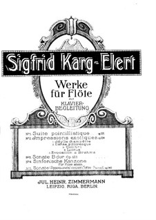 Sonate Appassionata für Flöte, Op.140: Sonate Appassionata für Flöte by Sigfrid Karg-Elert
