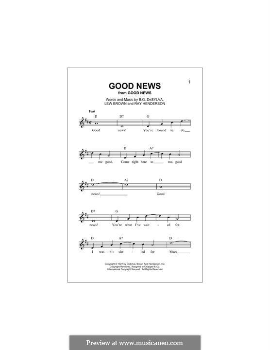 Good News: Melodische Linie by Buddy Gard DeSylva, Ray Henderson, Lew Brown