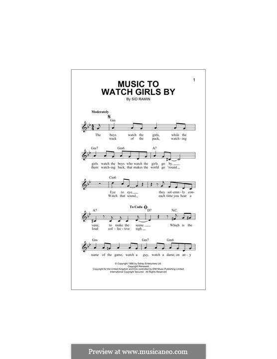 Music to Watch Girls By: Melodische Linie by Anthony Velona, Sidney Ramin