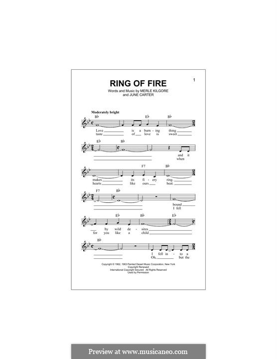 Ring of Fire: Melodische Linie by June Carter, Merle Kilgore