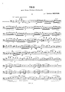 Klaviertrio in F-Dur: Cellostimme by Louis Kefer