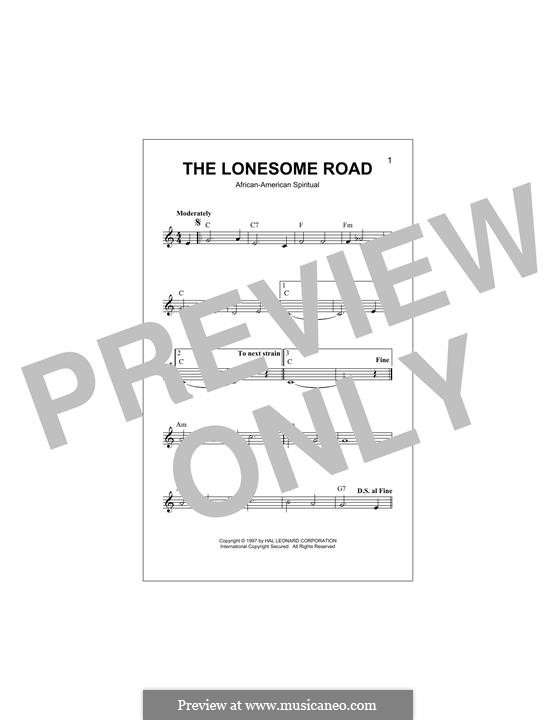 The Lonesome Road: Melodische Linie by folklore