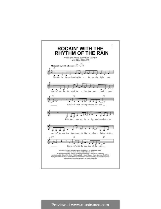 Rockin' with the Rhythm of the Rain (The Judds): Melodische Linie by Brent Maher, Don Schlitz