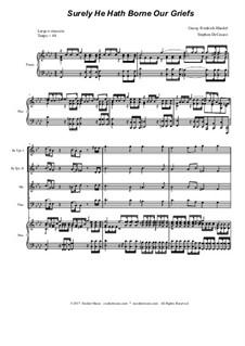 Surely He Hath Borne Our Griefs: Für Blechblasquartett by Georg Friedrich Händel