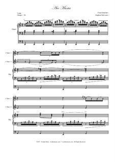Ave Maria, D.839 Op.52 No.6: Duet for C-instruments - organ accompaniment by Franz Schubert