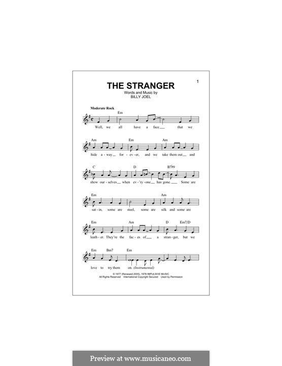 The Stranger: Melodische Linie by Billy Joel