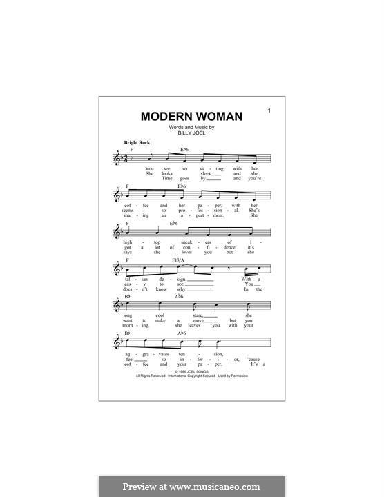 Modern Woman: Melodische Linie by Billy Joel