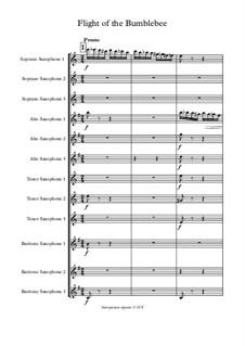 Das Märchen vom Zaren Saltan. Oper: Flight of the Bumblebee, for saxophones by Nikolai Rimsky-Korsakov