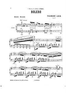 Bolero, Op.27: Bolero by Theodore Lack