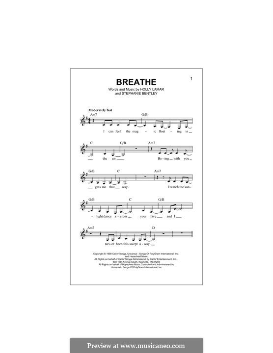 Breathe (Faith Hill): Melodische Linie by Holly Lamar, Stephanie Bentley
