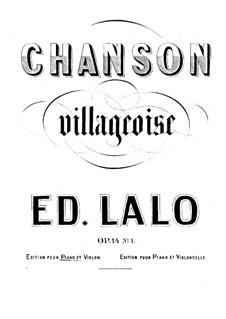 Zwei Stücke für Violine (oder Cello) und Klavie, Op.14: Partitur für zwei Interpreten by Édouard Lalo