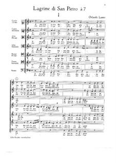 Lagrime di San Pietro: No.1-7 by Orlando di Lasso