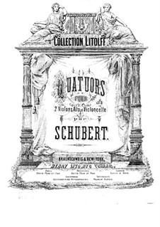 Vier Streichquartette: Violinstimme I by Franz Schubert