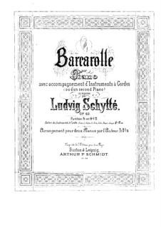 Barkarole für Klavier und Streicher (oder zwei Klaviere), Op.60: Violinstimme II by Ludvig Schytte