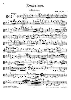 Romanze für Bratsche und Klavier, Op.72: Solostimme by Hans Sitt