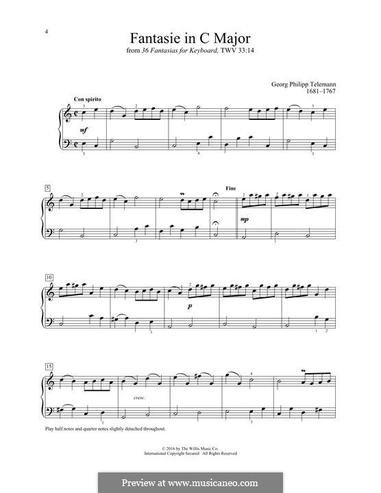 Fantasie in C Major: Fantasie in C Major by Georg Philipp Telemann